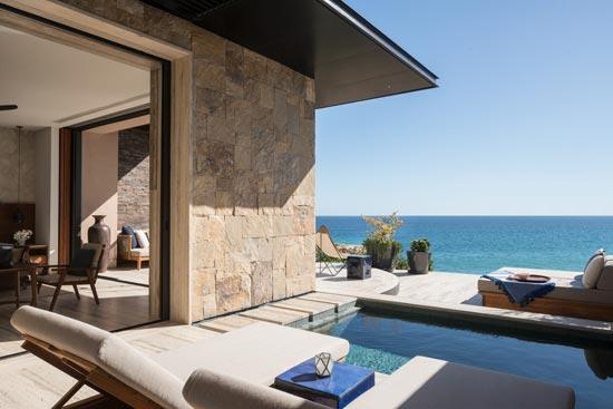 Vista al mar de Habitación doble en el hotel Zadún en los Cabos