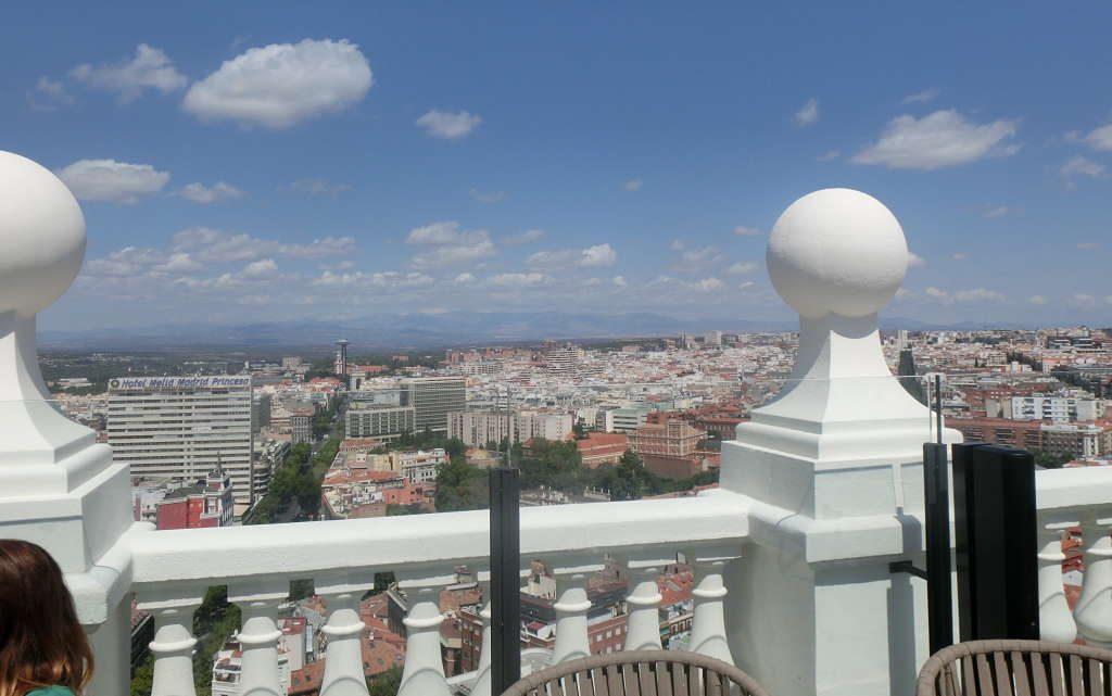 Vista de Madrid desde el hotel Riu