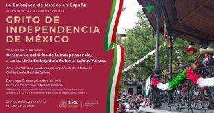 Celebración por el Grito de Independencia de México en Madrid