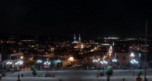 Lagos de Moreno desde el Calvario de noche