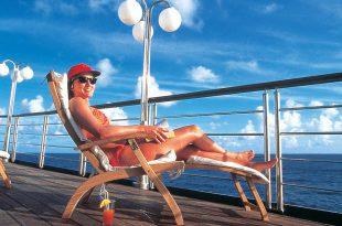Viajero solo en un crucero