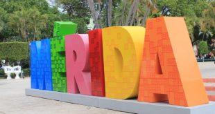 letras monumentales Mérida