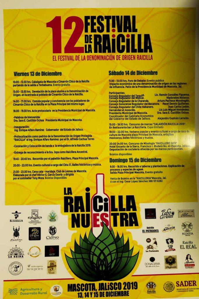 Programa del 12 festival de la raicilla