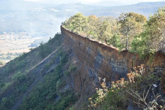 vista desde el cráter del Estribo