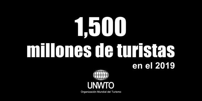 1500 millones de turistas en el 2019