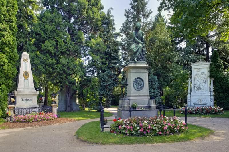 Tumba Beethoven , cementerio centra