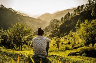 viajero en la naturaleza
