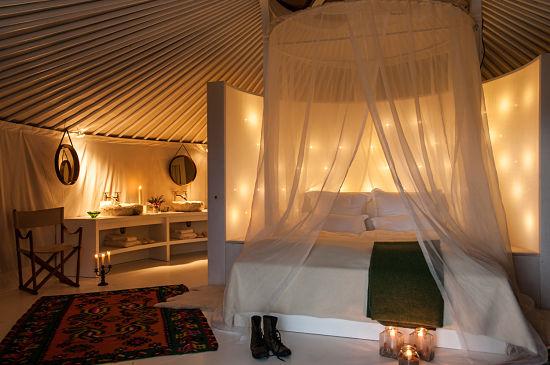 Habitación-Yurta en La Donaira
