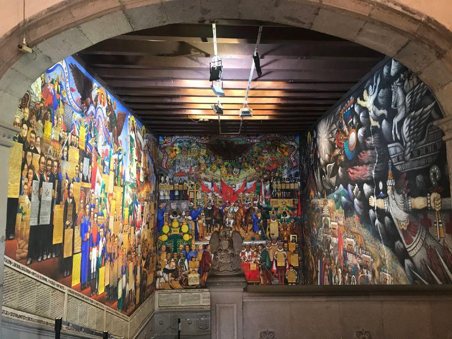 Murales en el Palacio de Gobierno de Tlaxcala