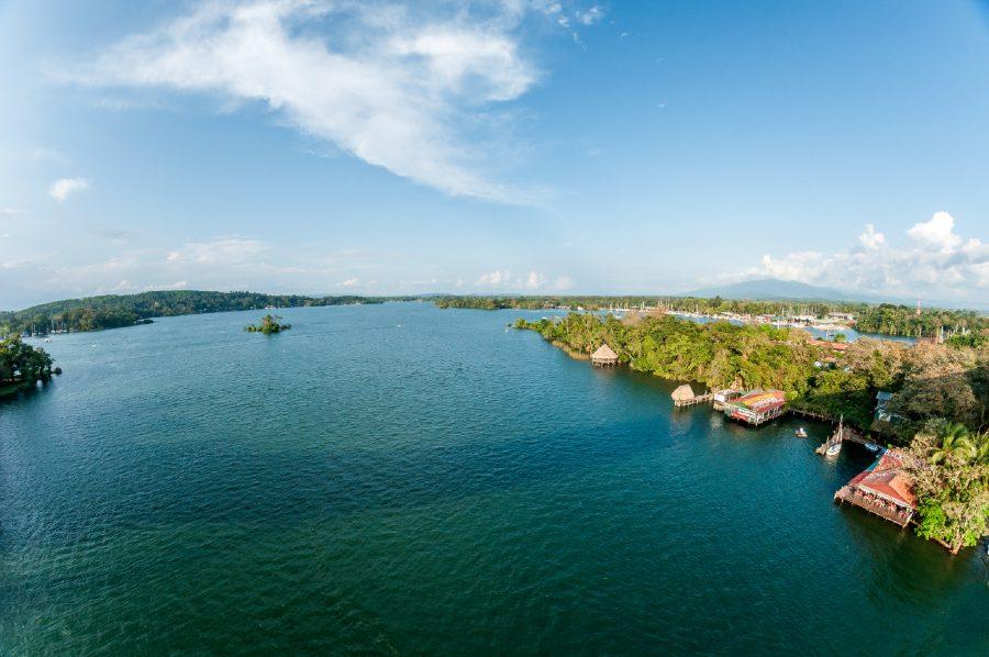 Guatemala Vista Panorámica Río dulce