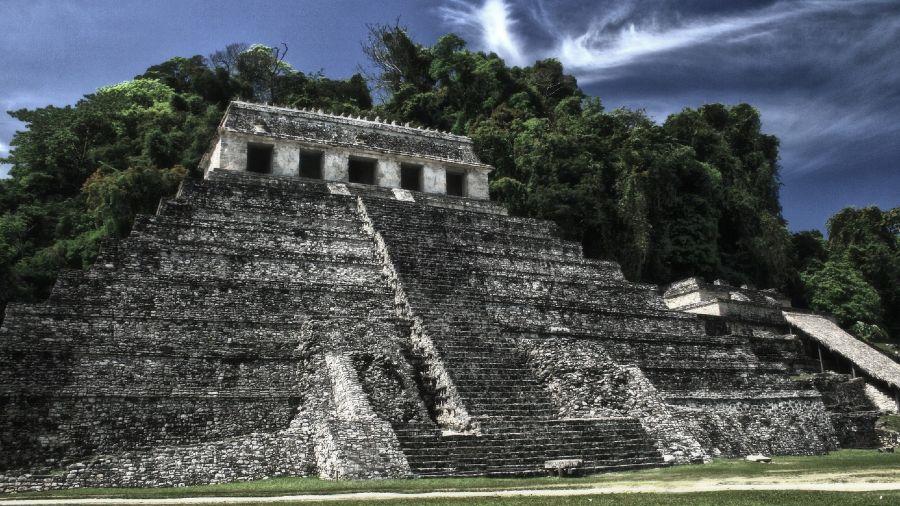 Templo de las inscripciones en Palenque, Chiapas