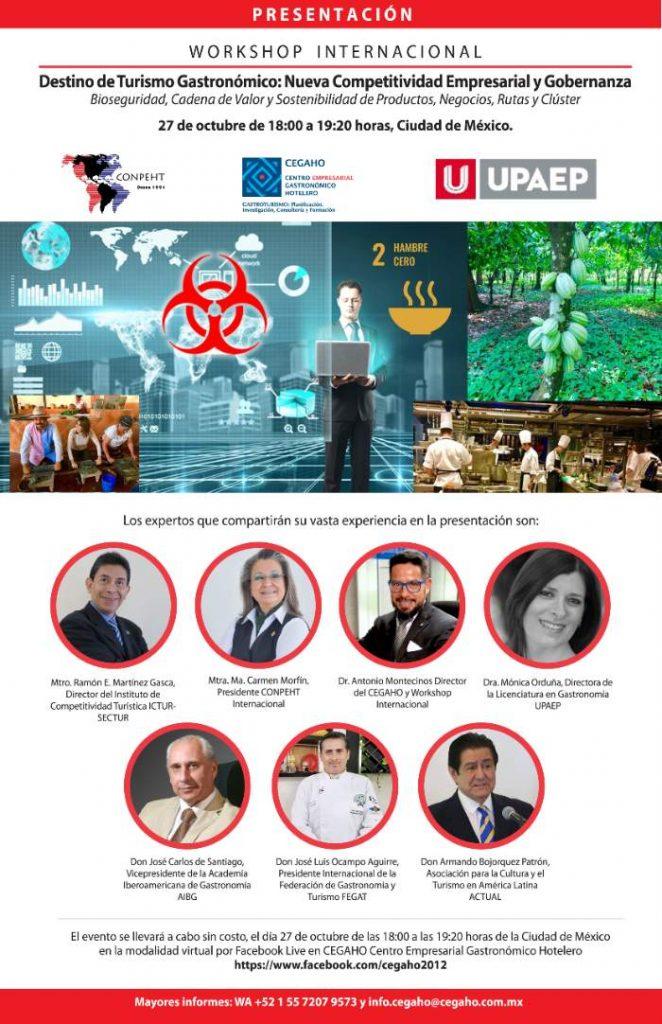 Invitación Workshop Internacional Destino de Turismo Gastronómico