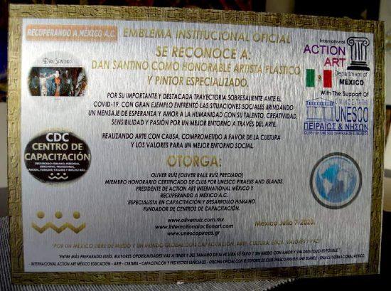 Reconocimiento de la UNESCO a Dan Santino