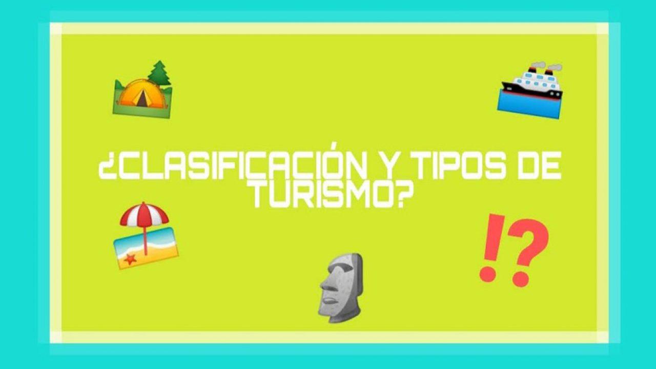 Clasificación Y Tipos De Turismo Entorno Turístico