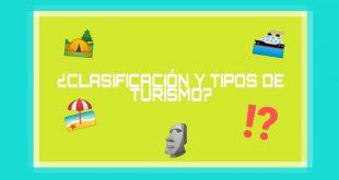 Clasificación y tipos de turismo