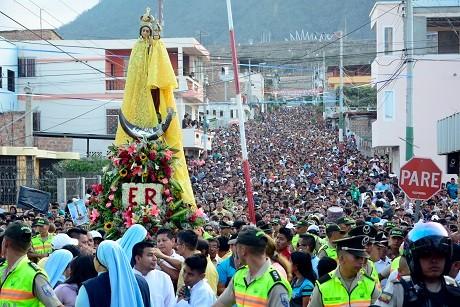 peregrinación de la Virgen de Monserrate
