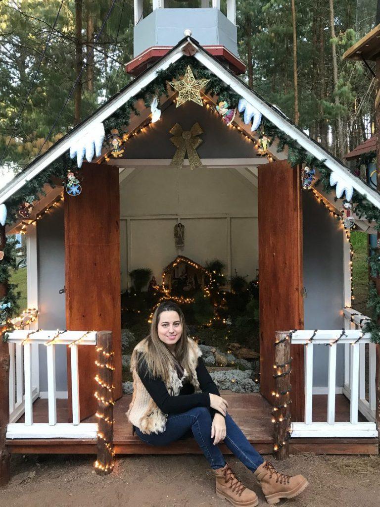 Andrea Soberanis en el Bosque del Ciclo Verde Parque Temático Noel