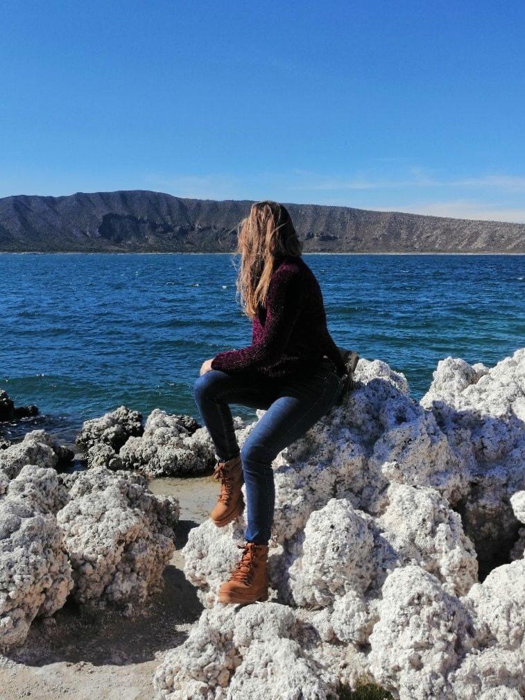 Andrea Soberanis en la Laguna de Alchichica 2