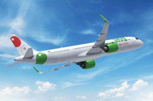 Avión Viva Aerobús en el aire