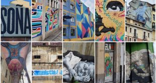 Collage de murales en Bilbao