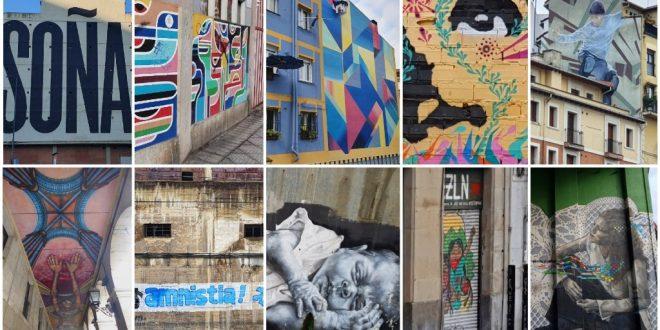 Collage de murales en Bilbao