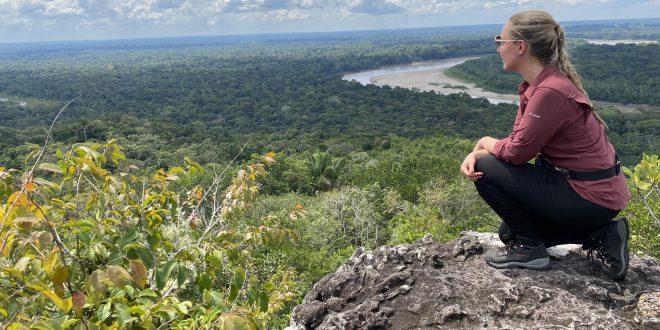 Paisaje desde la cima de la Pinturas El Raudal - San José del Guaviare