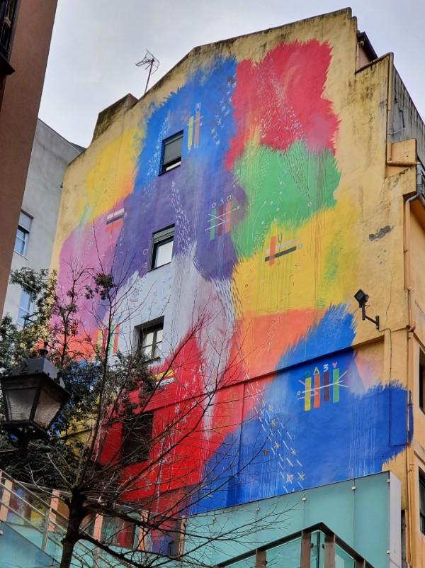 futurismo primitivo mural Bilbao