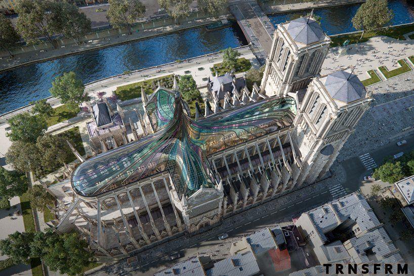 Diseño futurista de la catedral de Notre Dame 2