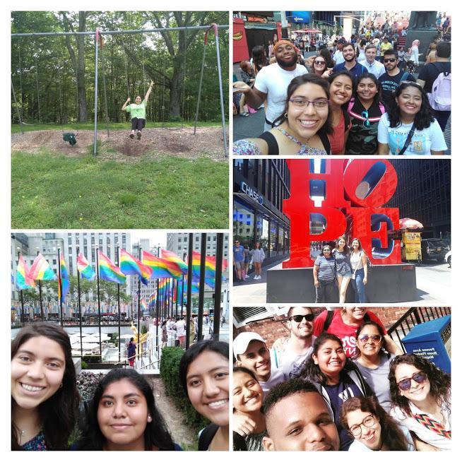 Collage de aventuras de mi segundo summer camp