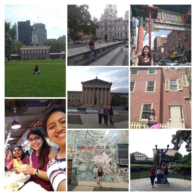 Collage de aventuras en Filadelfia