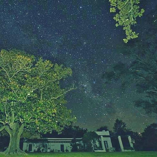 Estancia Buena Vista en Argentina de noche
