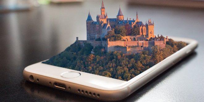 Juego de celular con un castillo