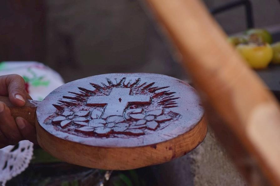 Utensilio para hacer las Tortillas Ceremoniales de Celaya