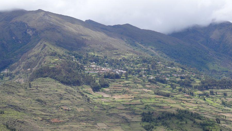 Vista panorámica del Distrito Rapayán