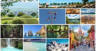 Collage de destinos turísticos de México