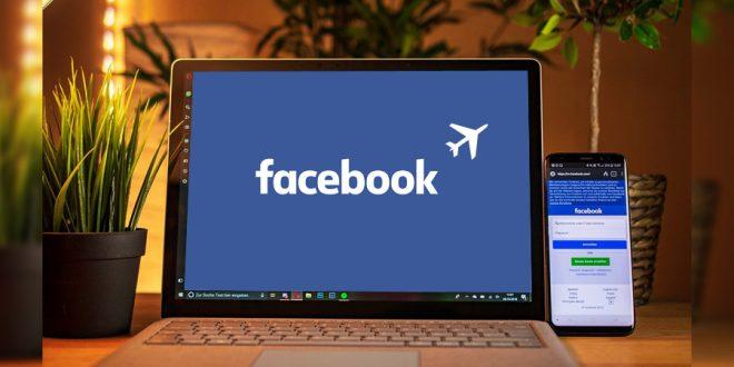Computadora con facebook turismo