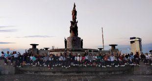 Estudiantes en la zona de los Fuertes de Loreto y Guadalupe Puebla
