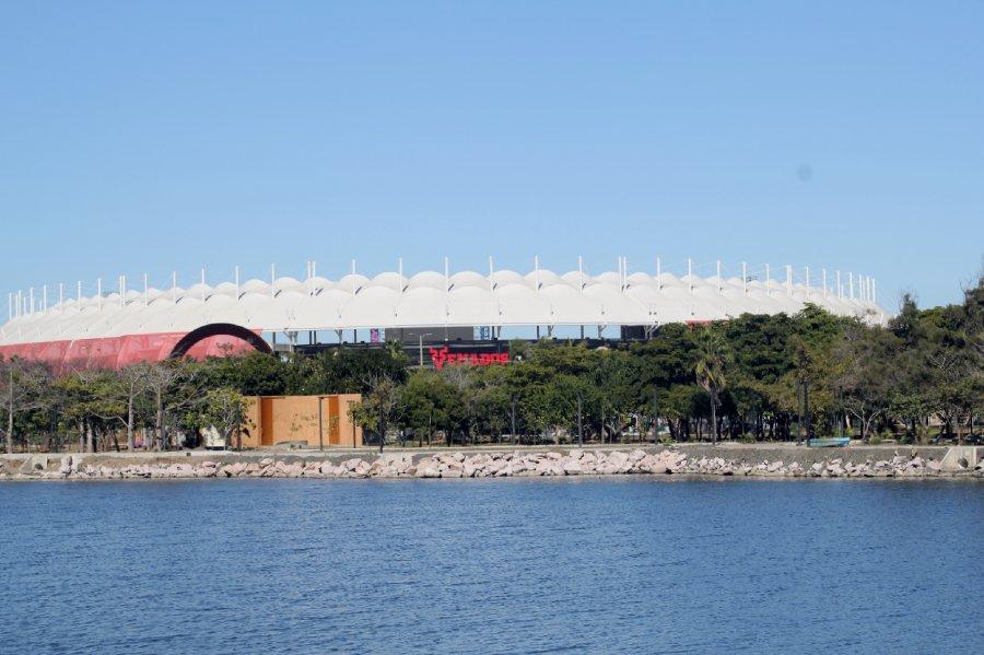 Laguna camarón y estadio en Mazatlán