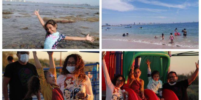 Niños de vacaciones en tiempos de COVID