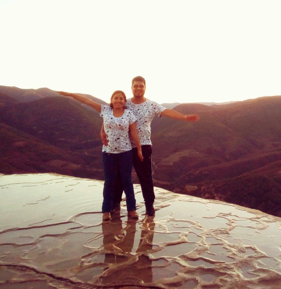 David Téllez en Hierve el Agua Oaxaca