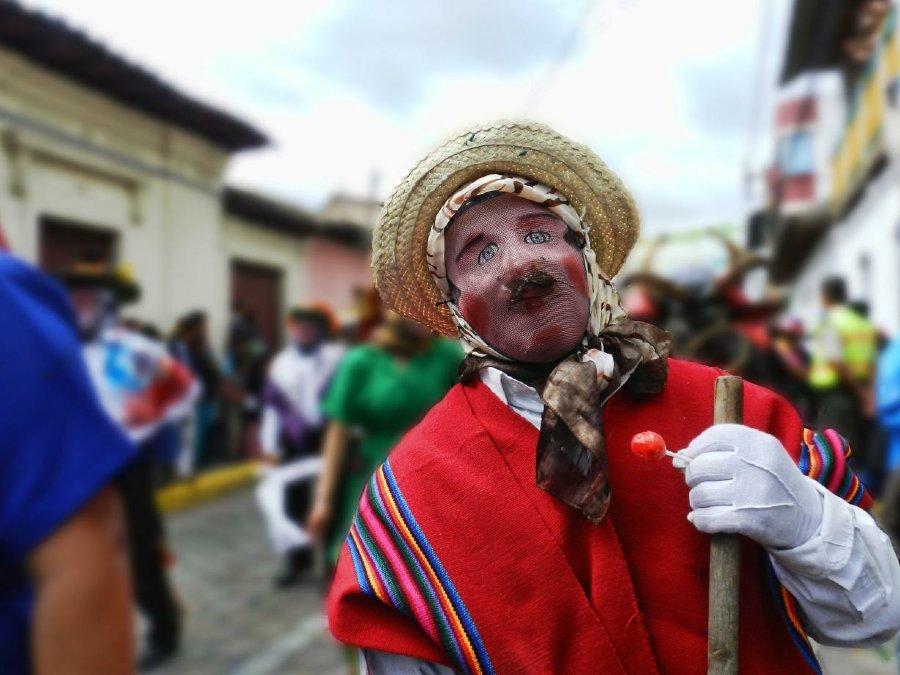 Personajes del desfile de Píllaro Capariche