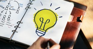 Un foco que expresa una idea
