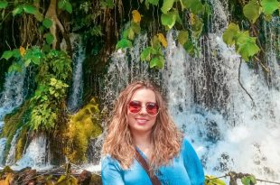Andra Soberanis en Cascada en Nace el Río, Actopan