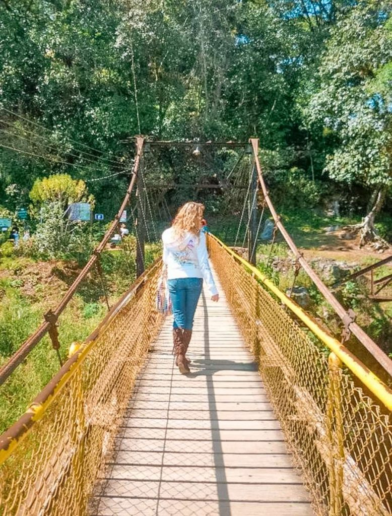 Puente colgante Cascada Texolo en Xico