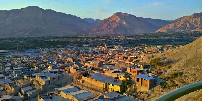 Vista de la ciudad Moquegua en Perú