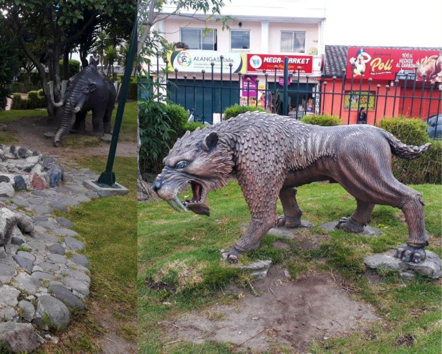 Mastodonte y Dientes de Sable