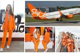 Nuevo uniforme de las Azafatas de la aerolínea SkyUp