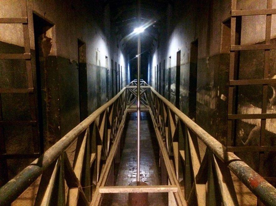 Parte superior del pabellón histórico de la Cárcel del Fin del Mundo