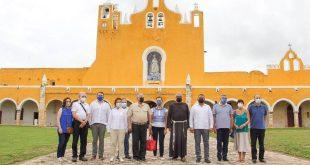 Visita de la OMT en el Convento de San Antonio de Padua en Izamal