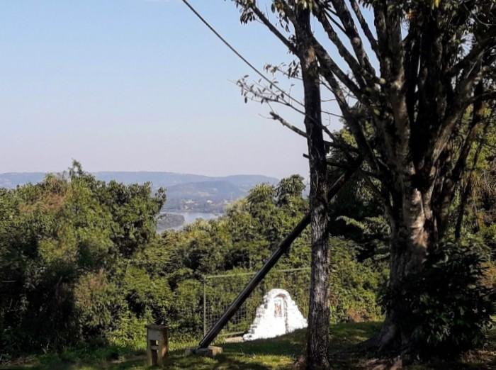 Vista del Río Uruguay y el vecino país de Brasil